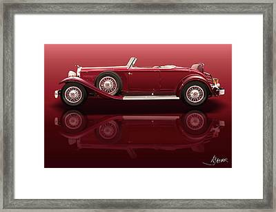 1932 Packard 904 Roadster Framed Print by Alain Jamar