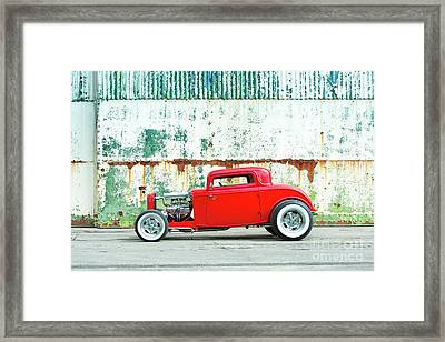 1932 Red Rod Framed Print by Tim Gainey