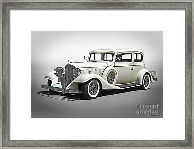 1933 Buick Series 86 Victoria 'studio' I Framed Print