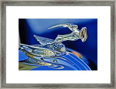 1933 Chrysler Imperial Hood Ornament Framed Print by Jill Reger