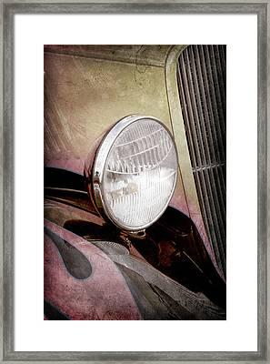 1933 Ford Coupe Hot Rod -0365ac Framed Print by Jill Reger