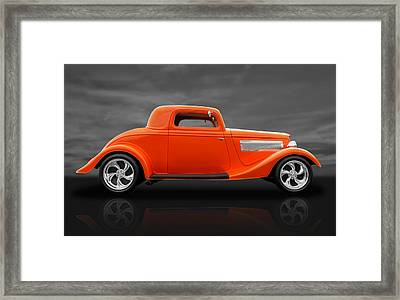 1933 Ford Three Window Coupe Framed Print