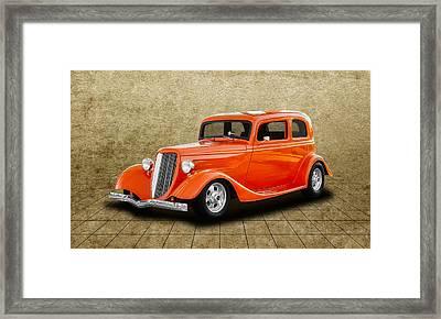 1933 Ford Tudor Sedan  -  33fordtudor750 Framed Print