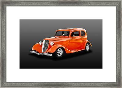 1933 Ford Tudor Sedan  -  33tudorfd450 Framed Print