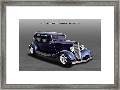 1933 Ford Tudor Sedan Street Rod Framed Print