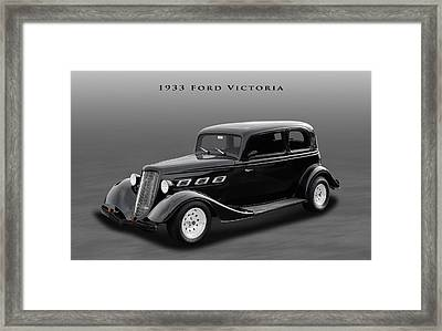 1933 Ford Victoria Sedan Framed Print