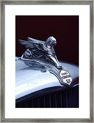 1933 Hudson Essex Terraplane Griffin Hood Ornament Framed Print by Carol Leigh