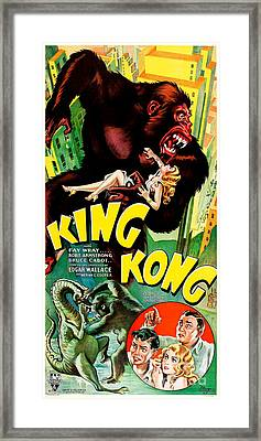 1933 King King Movie Poster Framed Print by Jon Neidert