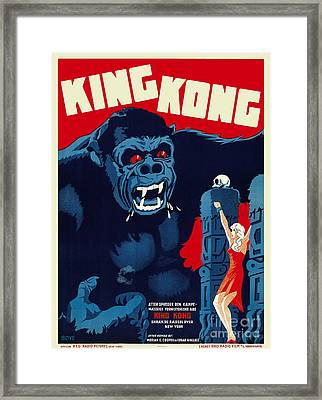 1933 King Kong Danish Movie Poster Framed Print by Jon Neidert