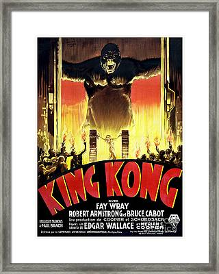 1933 King Kong French  Movie Poster Framed Print by Jon Neidert