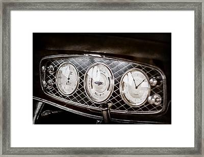 1933 Lincoln Kb Judkins Coupe Dashboard Instrument Panel -0159ac Framed Print by Jill Reger