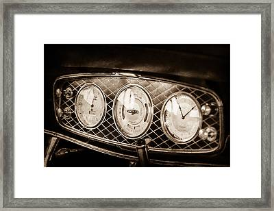1933 Lincoln Kb Judkins Coupe Dashboard Instrument Panel -0159s Framed Print by Jill Reger