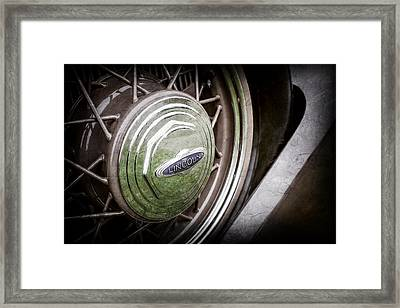 1933 Lincoln Kb Judkins Coupe Emblem - Spare Tire -0167ac Framed Print by Jill Reger
