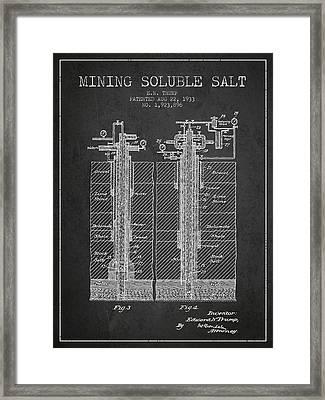 1933 Mining Soluble Salt Patent En40_cg Framed Print