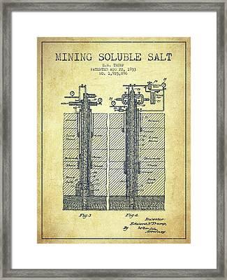 1933 Mining Soluble Salt Patent En40_vn Framed Print