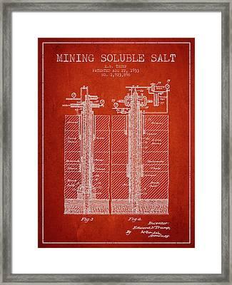 1933 Mining Soluble Salt Patent En40_vr Framed Print