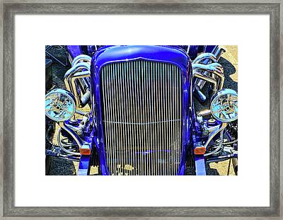 1933 Plymouth Hot Rod Grill Framed Print