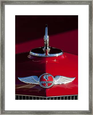 1933 Pontiac Hood Ornament 2 Framed Print by Jill Reger