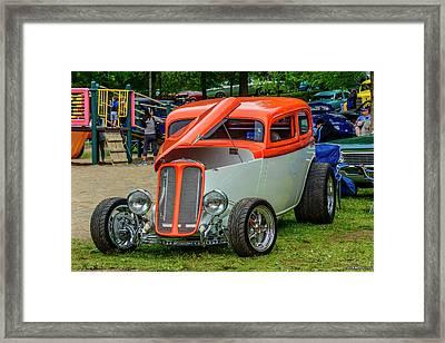 1933 Pontiac Sedan Street Rod Framed Print by Ken Morris