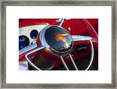 1933 Pontiac Steering Wheel Framed Print by Jill Reger