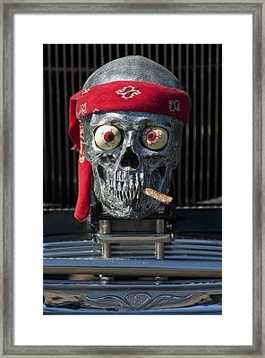 1933 Reo Flying Cloud Rat Rod Grille Ornament Framed Print by Jill Reger