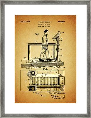 1933 Treadmill Framed Print by Dan Sproul