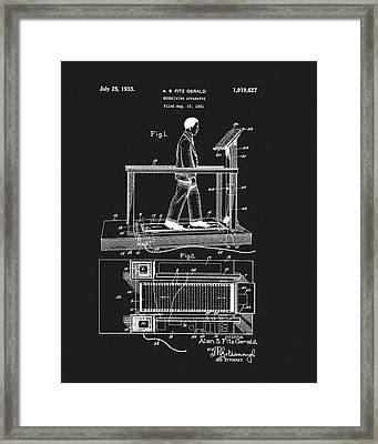 1933 Treadmill Patent Framed Print