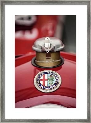 1934 Alfa Romeo Tipo B Hood Emblem Framed Print by Jill Reger