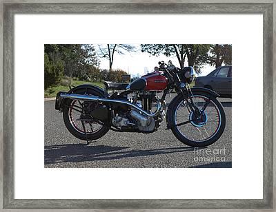 1934 Ariel Motorcycle Side View Framed Print by Robert Torkomian