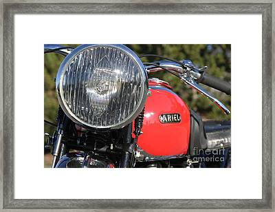 1934 Ariel Motorcycle Tight Front View Framed Print by Robert Torkomian