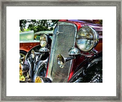 1934 Chevrolet Head Lights Framed Print by Paul Ward