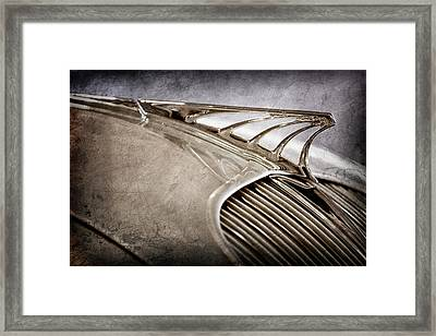 Framed Print featuring the photograph 1934 Desoto Airflow Coupe Hood Ornament -2404ac by Jill Reger