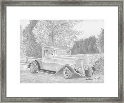 1934 Dodge Pickup Truck Art Print Framed Print by Stephen Rooks