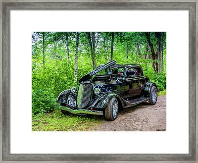 1934 Ford 3 Window Coupe Framed Print by Ken Morris