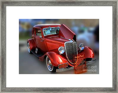 Framed Print featuring the photograph 1934 Ford Coupe by Dyle   Warren