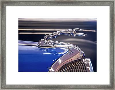 Framed Print featuring the digital art 1934  Ford Greyhound Hood Ornament by Chris Flees
