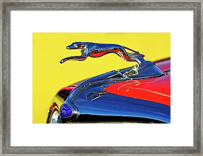 1934 Ford Hood Ornament Framed Print by Jill Reger