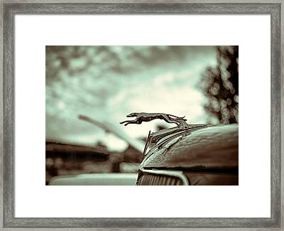 1934 Ford Hood Ornament Framed Print by Jon Woodhams