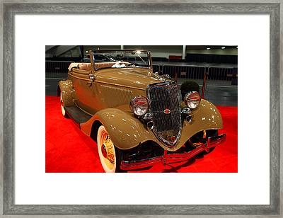 1934 Ford Model 40 Deluxe Cabriolet Framed Print by Wingsdomain Art and Photography