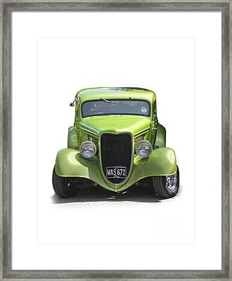 1934 Ford Street Hot Rod On A Transparent Background Framed Print