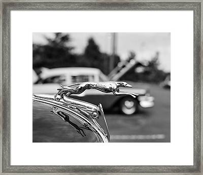 1934 Ford V8 Hood Ornament Framed Print by Jon Woodhams