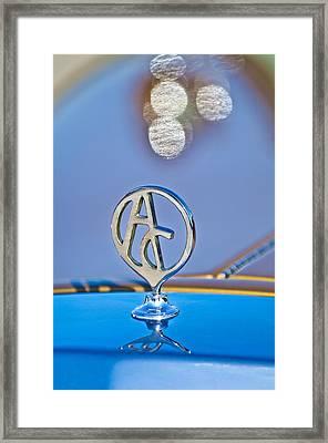 1934 Mercedes Replica Hood Ornament Framed Print by Jill Reger