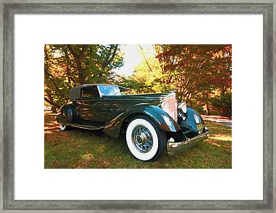 1934 Packard Dietrich Convertible Victoria Framed Print