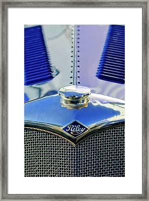 1934 Riley Hood Ornament Framed Print by Jill Reger
