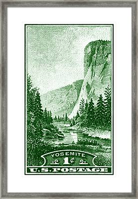 1934 Yosemite Park Stamp Framed Print