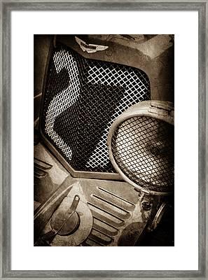 1935 Aston Martin Ulster Race Car Grille -0979s Framed Print