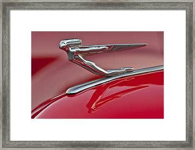 1935 Auburn Hood Ornament 2 Framed Print by Jill Reger