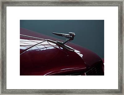 Framed Print featuring the photograph 1936 Auburn Hood Ornament by Chris Flees