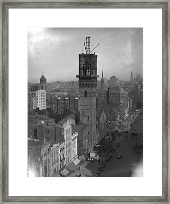 Framed Print featuring the photograph 1935 Back Bay Construction, Boston by Historic Image