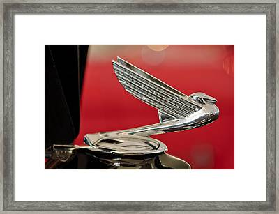 1935  Chevrolet Eagle Hood Ornament Framed Print by Jill Reger